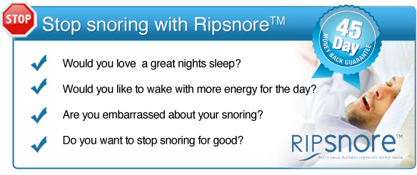 Stop snoring for good